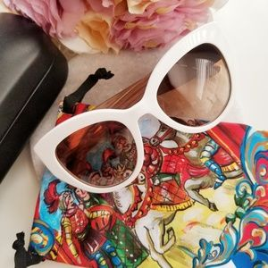 Dolce & Gabbana White Sicilian Carretto Sunglasses